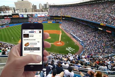 l'application mlb guide les visiteurs dans le stade et leur pousse des offres