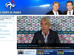 capture d'écran du site internet de tf1 dédié à l'équipe de france.
