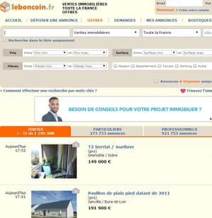leboncoin.fr, site immobilier préféré des français.
