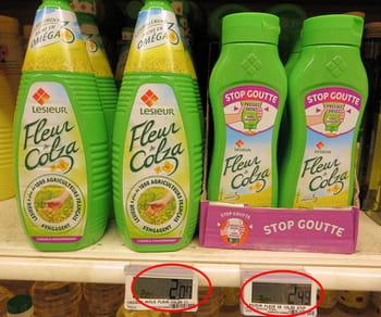 ladifférence de prix entre le produit standard et le produit 'amélioré' saute