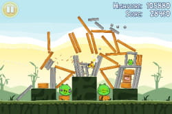 le jeu 'angry birds', lancé en version payante sur iphone, a été porté en