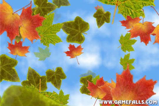 La chute des feuilles en automne