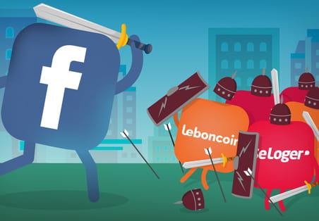 Immobilier: Facebook à l'assaut de Leboncoin et SeLoger