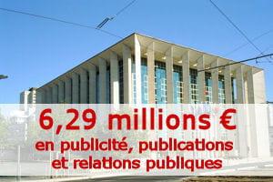 montant calculé par la rédaction à partir du budget primitif 2011.