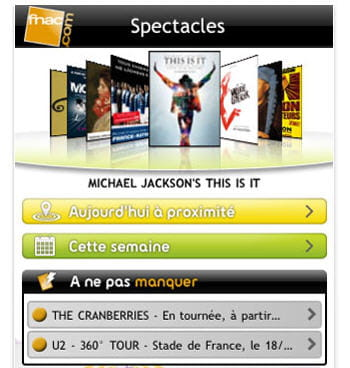 capture d'écran de l'application tick&live