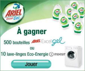 la campagne pour la lessive ariel excel gel a obtenu la note de 2,93/5.