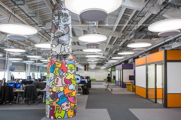 2000 m² de bureaux en open space