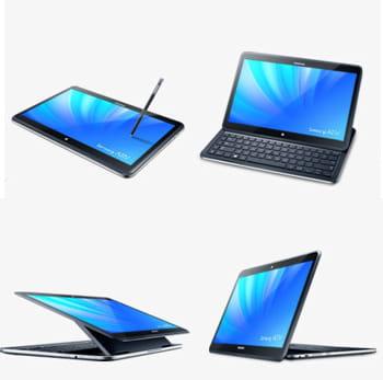 comment le samsung ativ q peut se convertir en pc ou en tablette