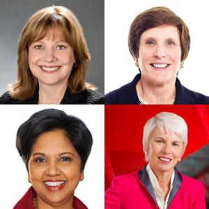 on compte seulement 10 femmes patronnes parmi les254plus grosses entreprises