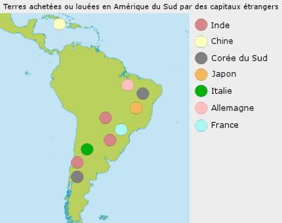 des millions d'hectares de terres brésiliennes et argentines sont aux mains de