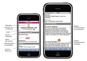 captures d'écran du service mobile développé par gs1 pour franprix