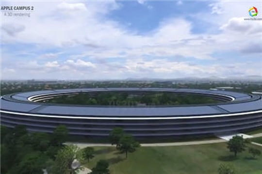 """Vidéo : Voici à quoi ressemblera le """"Spaceship"""", le futur siège d'Apple"""