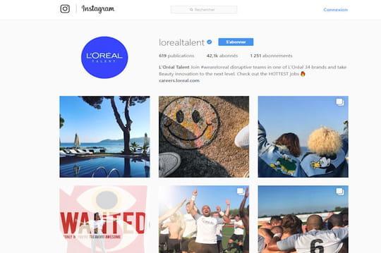 Instagram, nouveau terrain de jeu des RH
