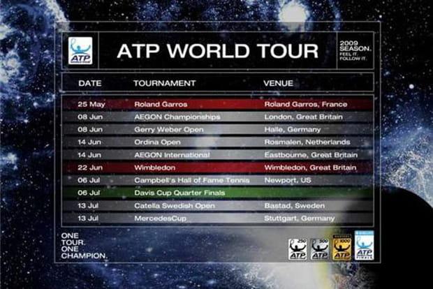 Suivez toute l'actualité du tennis