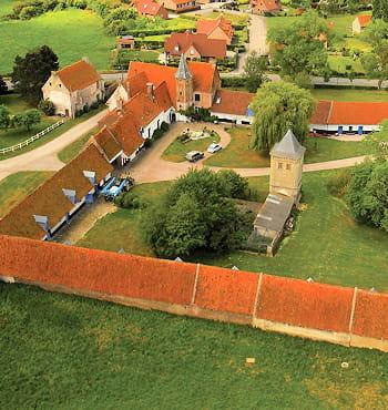 la ferme de l'abbaye à clairmarais à proximité de saint-omer.