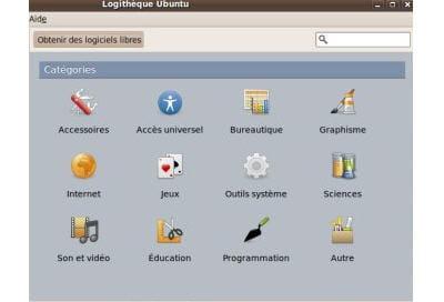 la logithèque d'ubuntu
