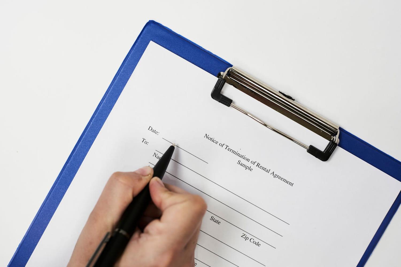 Lettre de résiliation d'un bail avec 1mois de préavis