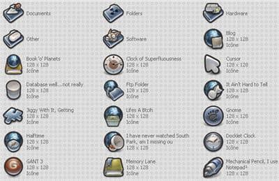 le pack gant 3, des dizaines d'icônes franchement charmantes