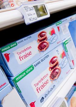 auchan a lancé une large gamme de produits sans gluten.