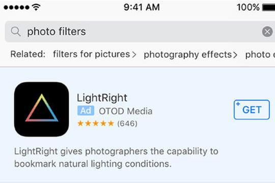 Découvrez à quoi vont ressembler les Search Ads d'Apple