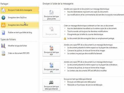 la co-publication de documents est désormais possible sur cette version d'office