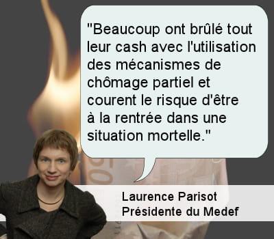 laurence parisot, présidente du medef.
