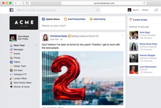Facebook at Work sera lancé en fin de l'année... en freemium