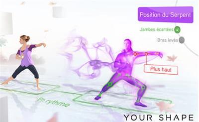 your shape vous permet de faire les mouvements correctement