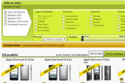 outil d'aide au choix de fnac.com