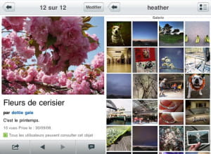 l'application flickr de yahoo
