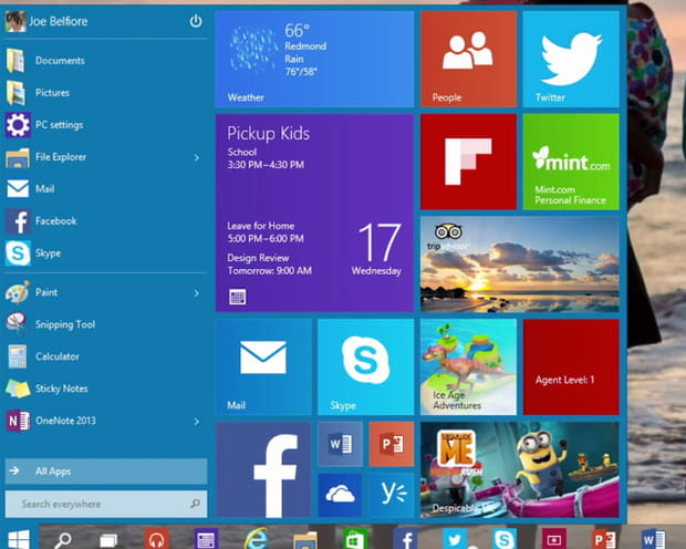 Windows 10: seize premières captures d'écran