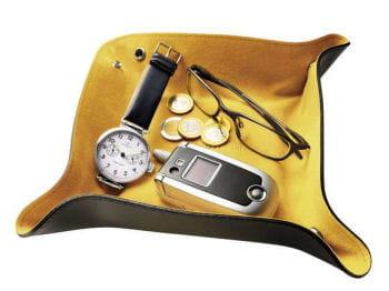 le vide-poches en cuir et velours facilement transportable