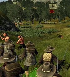 dans la campagne, on est souvent confrontés à des indigènes hostiles