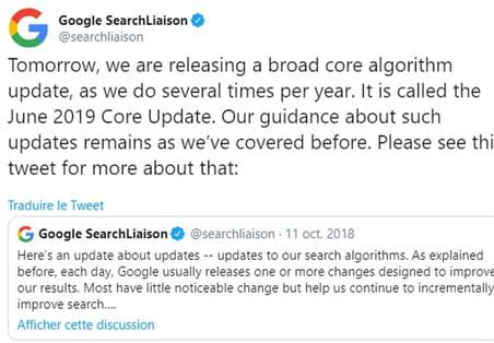 Algorithme de Google: de premiers effets pour la June 2019Core Update?
