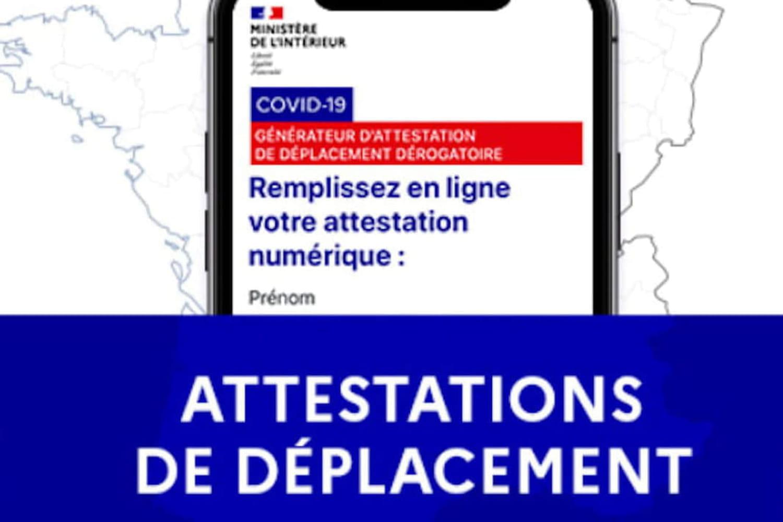 Attestation de déplacement: le document à télécharger