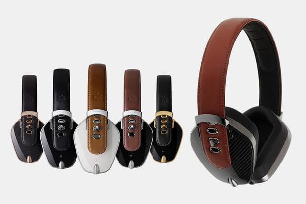Un casque audio Sonus Faber Pryma Carbon Marsala