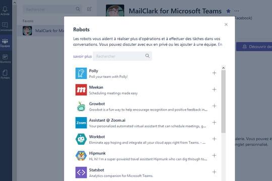 La galerie de bots de Microsoft Teams est arrivée