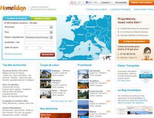 le site de homelidays est spécialisé dans les locations de vacances