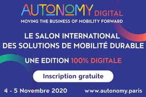Rendez-vous les 4et 5novembre en ligne pour le salon des mobilités Autonomy