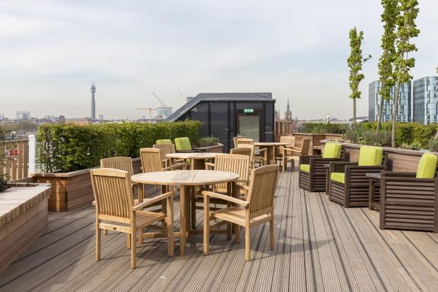 Une vue à 360° depuis la nouvelle terrasse
