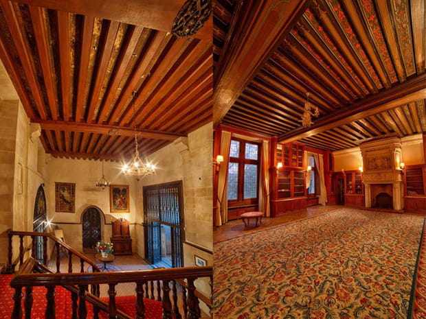 Des poutres en bois doublent presque tous les plafonds