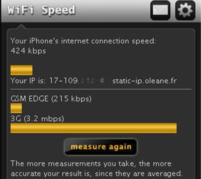 mesurer sa vitesse en wi-fi