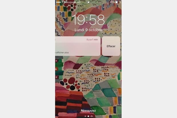 Supprimer mails et SMS dès la notification