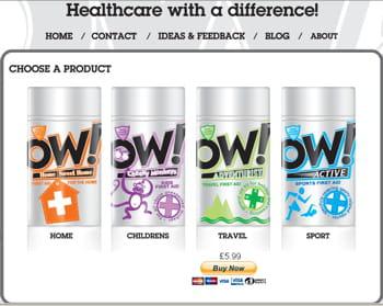 capture de l'écran d'accueil du site d'ow.