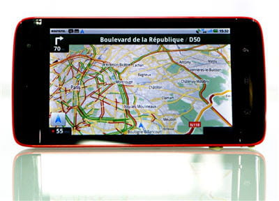 une photo de la fonction gps de la tablette.