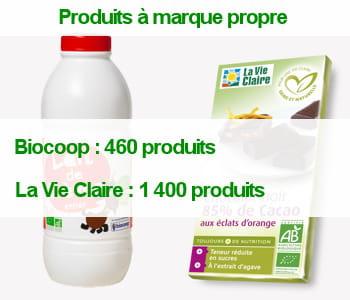 la vie claire dispose d'une gamme beaucoup plus large de produits àsamarque.