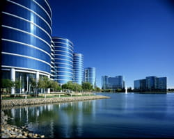 le siège d'oracle, à redwood shores, en californie