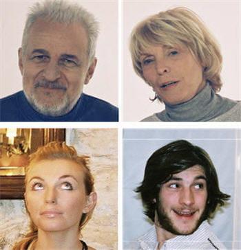 les quatre acteurs de la publicité.
