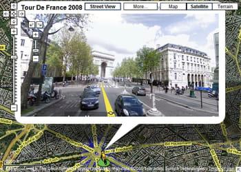l'arc de triomphe et l'avenue des champs-elysées vus par google street view