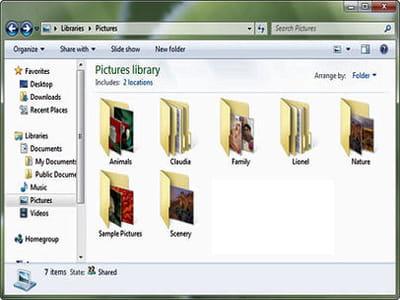 l'aperçu des fichiers est visible dans les miniatures des dossiers.